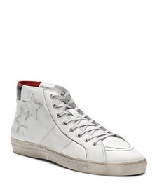 The Kooples - Distressed Leather High-Top Sneakers