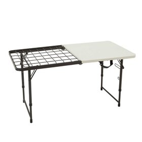 Lifetime 4-Foot Fold-In-Half Cooking Table (Light