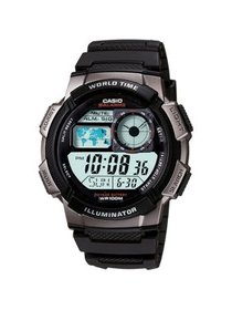 Men's Digital Sport Watch With Time Zone Display,