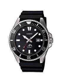 Men's Stainless Steel Dive-Style Watch, Black Resi