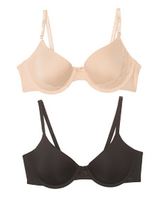 MAIDENFORM 2pk Demi Coverage Lace Bras