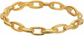 Kenneth Jay Lane Polished Gold Link Bangle