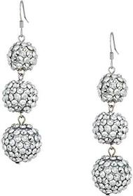 Kenneth Jay Lane 3 Ball Drop Fishhook Earrings