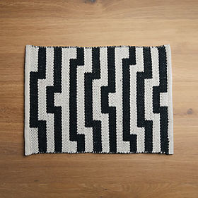 Crate Barrel Mohave Lines Jacquard Placemat