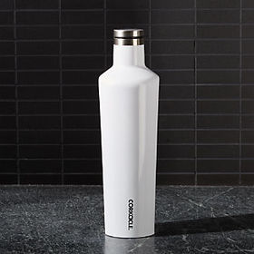 Crate Barrel Corkcicle White Canteen