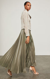BCBG Dallin Pleated Maxi Skirt
