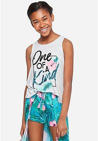 Justice Positive Message Knot Back Tank