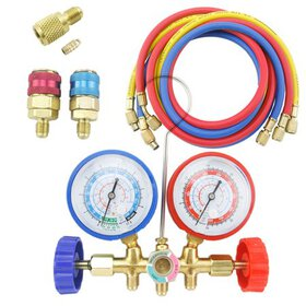 Diagnostic Manifold Gauge Set 5ft. R12 R22 R134A R