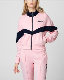 Juicy Couture TRICOT ZIP-UP TRACK JACKET