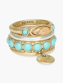 Lucky Brand Jasper Ring Stack