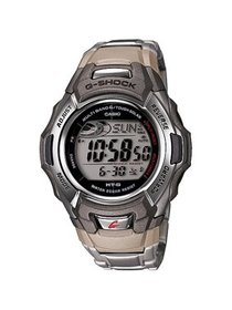 Men's Solar Atomic G-Shock Watch, Stainless-Steel