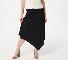 Lisa Rinna Collection Asymmetric Hem Skirt - A3538
