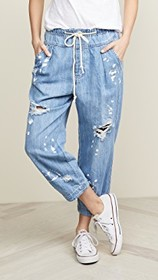 Free People Mixed Up Utility Jeans