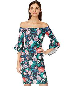 Bebe Off the Shoulder Bell Sleeve Dress