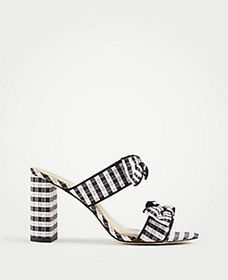 Janie Gingham Heeled Sandals