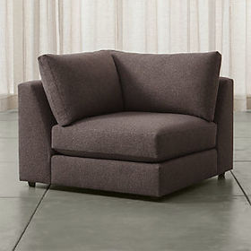 Crate Barrel Drake Corner Chair