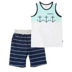 Boys (4-7) Nautica 2pc. Anchors Screened Tank Top