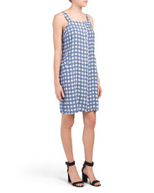 TERZO MILLENIO Made In Italy Linen Gingham Dress