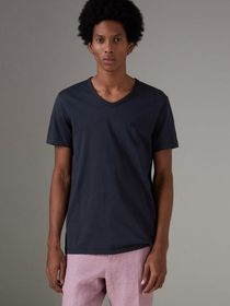 Burberry Cotton Jersey T-shirt in Navy