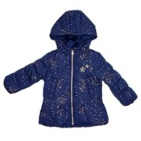 OSHKOSH Girls Star Hooded Puffer Jacket with Fleec