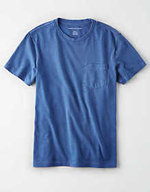 American Eagle AE Garment Dyed Heather Pocket T-Sh