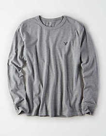 American Eagle AE Long Sleeve Logo Crew Neck Shirt