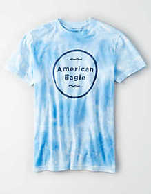 American Eagle AE Short Sleeve Tie-Dye Graphic T-S