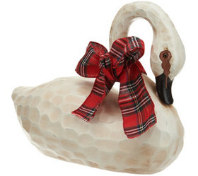 """As Is"" 17"" Decorative Swan with Ribbon by Valerie"