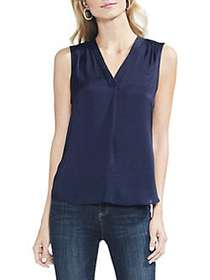 Vince Camuto Rumple V-Neck Sleeveless Blouse CLASS