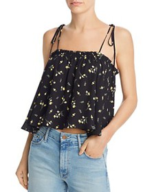 AQUA - Floral Cropped Swing Top - 100% Exclusive