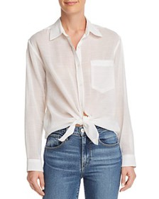 7 For All Mankind - Knot-Front Button-Down Shirt