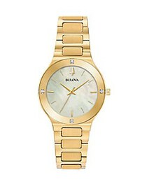 Bulova Millenia Goldtone Stainless Steel & Diamond