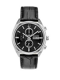 Bulova Sutton Surveyor Chronograph Black Leather S