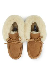 Lands End Women's Shearling Bootie Slippers