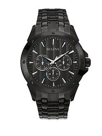 Bulova Multi-Function Black Stainless Steel Bracel