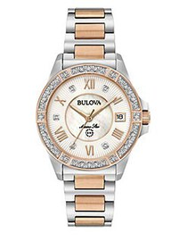 Bulova Marine Star Two-Tone Stainless Steel & Diam