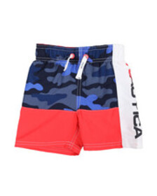 Nautica nautica logo swim trunks (2t-4t)