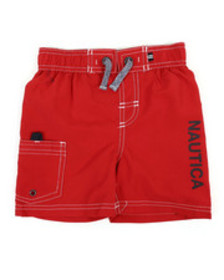 Nautica swim trunks w/ marled drawstrings (2t-4t)