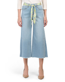 SEVEN7 High Rise Cropped Jeans With Belt