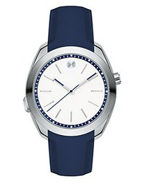 Movado BOLD Motion Stainless Steel & Silicone Stra