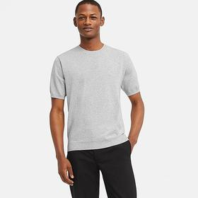 MEN WASHABLE CREW NECK SHORT-SLEEVE SWEATER