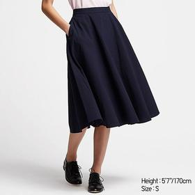 WOMEN SEERSUCKER CIRCULAR SKIRT