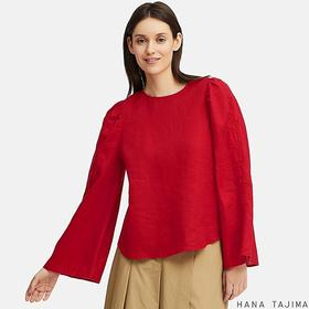 WOMEN PREMIUM LINEN LONG-SLEEVE BLOUSE (HANA TAJIM