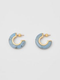 Burberry Marbled Resin Gold-plated Hoop Earrings i