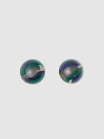 Burberry Marbled Resin Palladium-plated Sphere Ear
