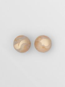 Burberry Marbled Resin Gold-plated Sphere Earrings