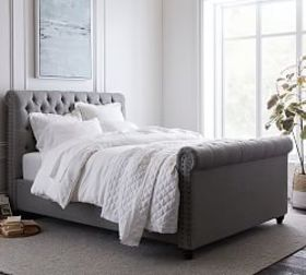 Pottery Barn Chesterfield Tufted Upholstered Bed w