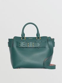 Burberry The Small Leather Belt Bag in Dark Cyan