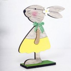 Tuscom Easter Decorations Wooden Rabbit Shapes Orn