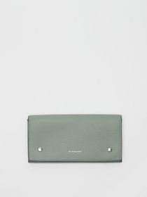 Burberry Two-tone Leather Continental Wallet in Gr